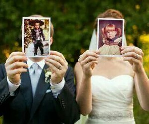 couple, picture, and newlyweds image