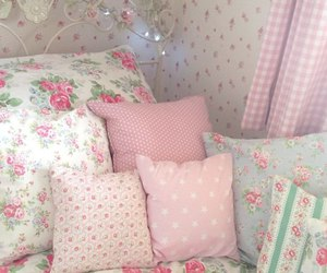 pink, pillow, and room image