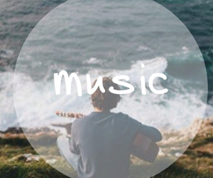 guy, music, and nature image