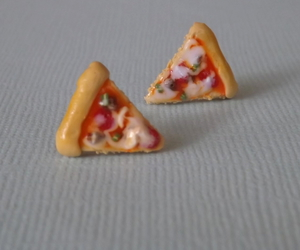 fake food, pizza, and polymer clay image
