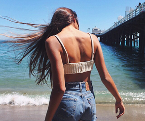 indie, beach, and girl image