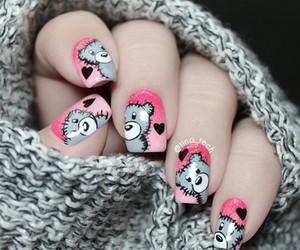 nails, bear, and beauty image