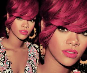 earrings, hair, and lips image