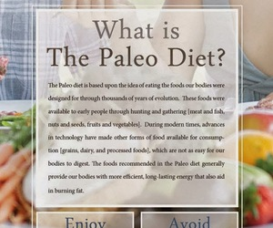 healthy food, paleo diet, and food chart image
