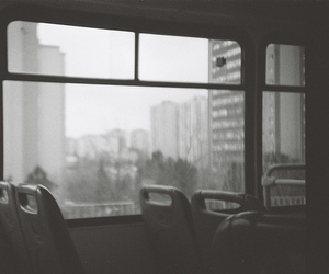 black and white, photography, and transport image