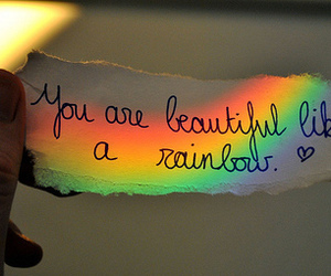 rainbow, beautiful, and quotes image