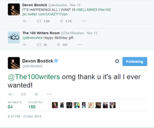 funny, devon bostick, and the 100 image