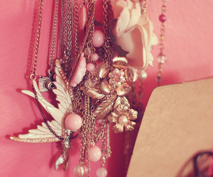 girly, lovely, and necklace image