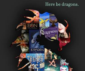 book, dragon, and fantasy image