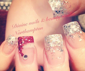 christmas, nails, and nails art image