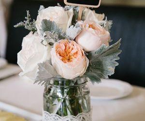 bride, centerpiece, and flower image