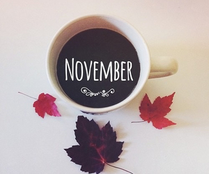 autumn, november, and coffee image