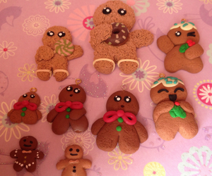 fimo, gingerbread man, and polimer clay image