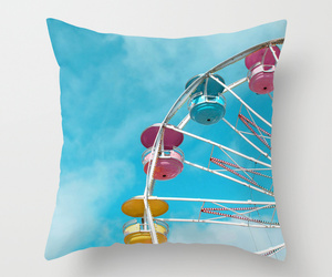 bed, blue, and cotton candy image