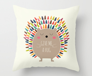 art, funny, and throw pillow image