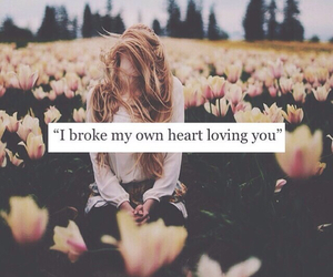 love, broke, and heart image