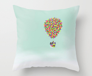 balloons, pillow, and bed image