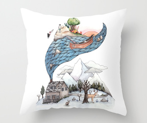 art illustration, pillow, and gift ideas image