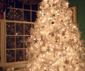 christmas, tree, and white image