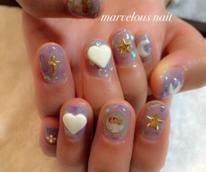 fantasy, heart, and nail image