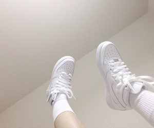 white, pale, and nike image