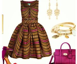 dress, bag, and fashion image
