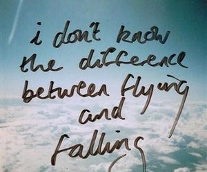 quotes, sky, and falling image
