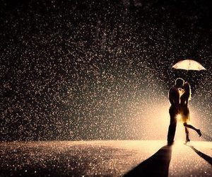 boy, kiss, and kiss in the rain image