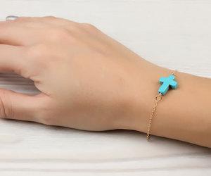 faith bracelet, best friend bracelet, and sideways cross bracelet image