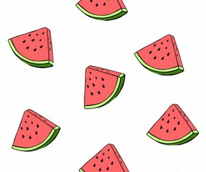 food, wallpaper, and watermelon image