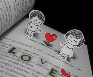 heart, message, and love image