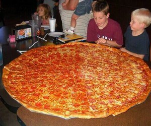 pizza, food, and big pizza image
