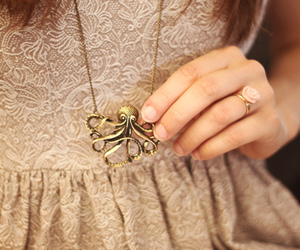 girly, neckless, and octopus image