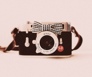 camera, ribbon, and stripes image