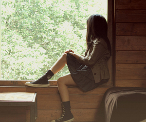 girl, photography, and alone image