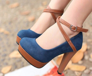 blue, feet, and girl image