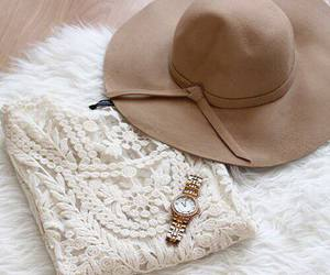 fashion, hat, and watch image