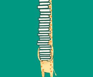 book, giraffe, and nerd image