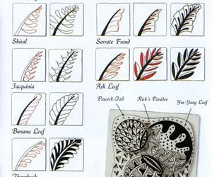 zen doodles and how to draw doodle leafs image