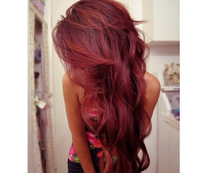 hair, red hair, and hairstyle image