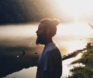 beard, hair, and nature image