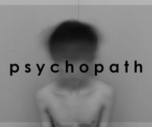 black and white, hipster, and psychopath image