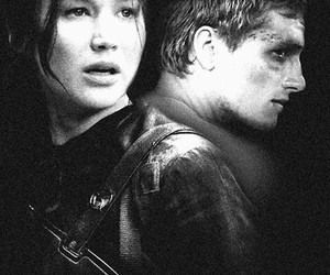 the hunger games, peeta mellark, and mockingjay part 1 image