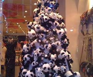 christmas, holidays, and panda image