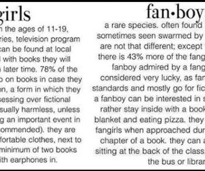 fangirl, bookworm, and fanboy image