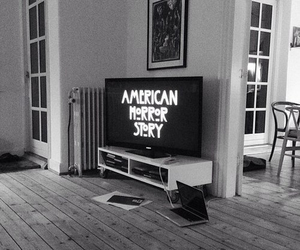 american horror story, ahs, and black and white image