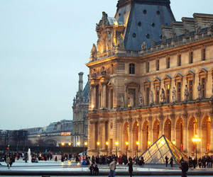 paris, louvre, and architecture image