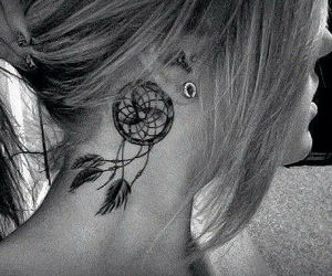 ear, ink, and tattoo image