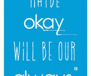 text, the fault in our stars, and love image