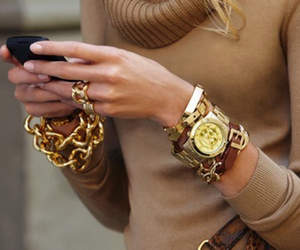 bangles, bracelet, and gold image